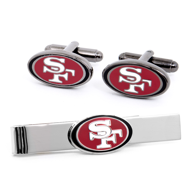 San Francisco 49er's Cufflinks and Tie Bar Gift Set