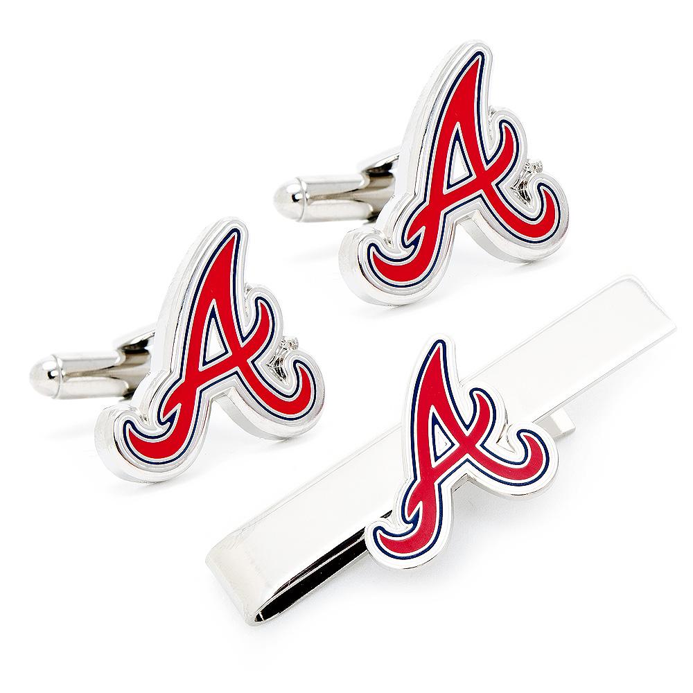 Atlanta Braves Cufflinks and Tie Bar Gift Set