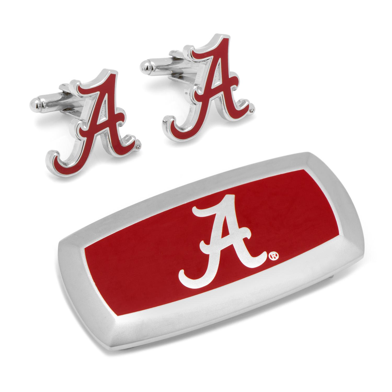 Alabama Crimson Tide Cufflinks and Cushion Money Clip Set