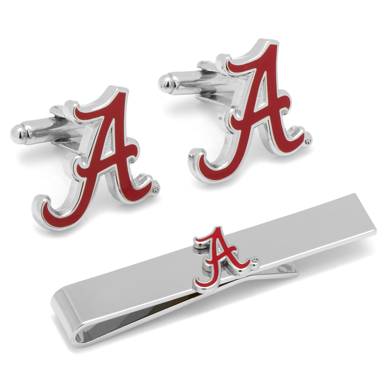 Alabama Crimson Tide Cufflinks and Tie Bar Gift Set