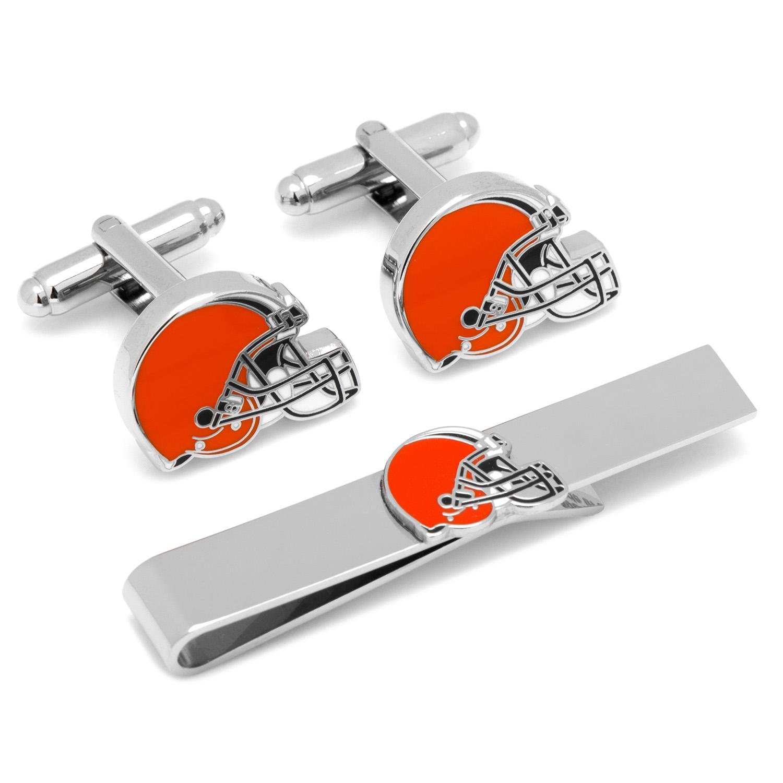 Cleveland Browns Cufflinks and Tie Bar Gift Set