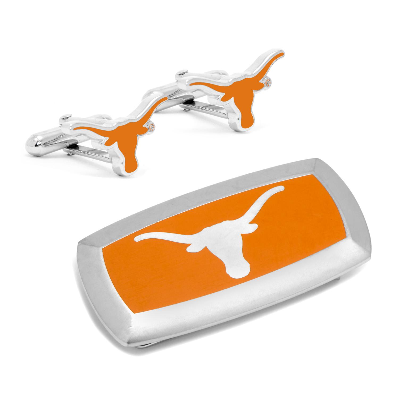 Texas Longhorns Cufflinks and Cushion Money Clip Gift Set