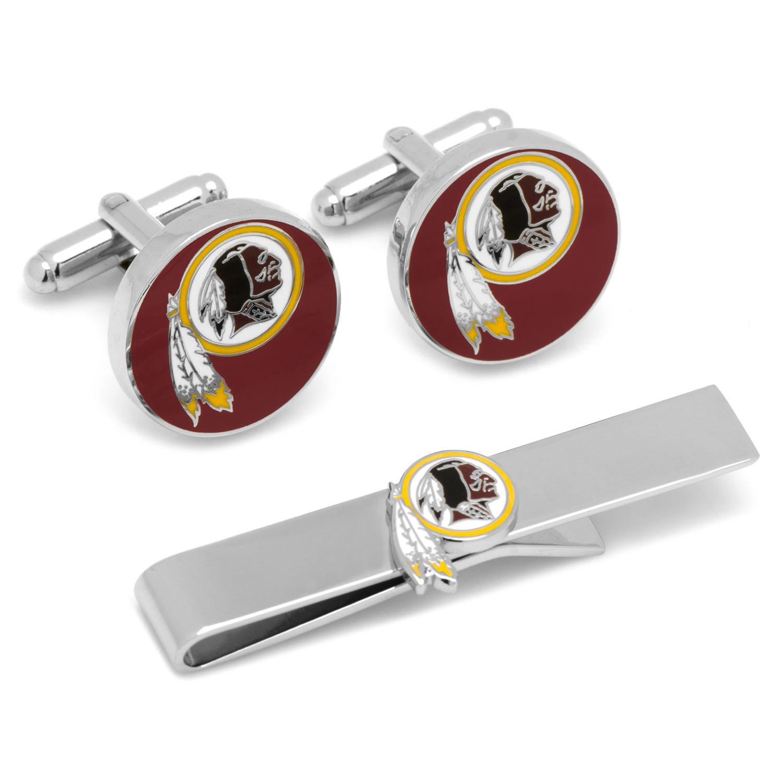 Washington Redskins Cufflinks and Tie Bar Gift Set