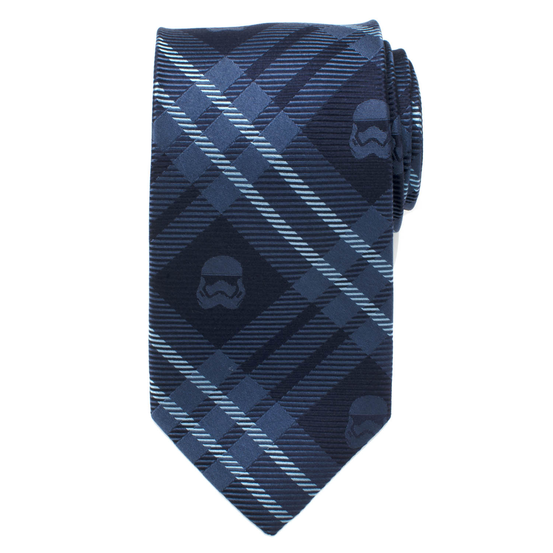 Stormtrooper Navy Plaid Mens Tie