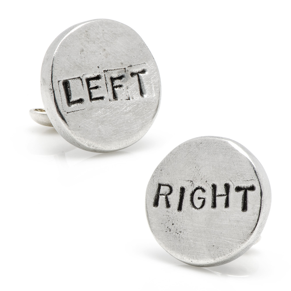 Pewter Left/Right Cufflinks