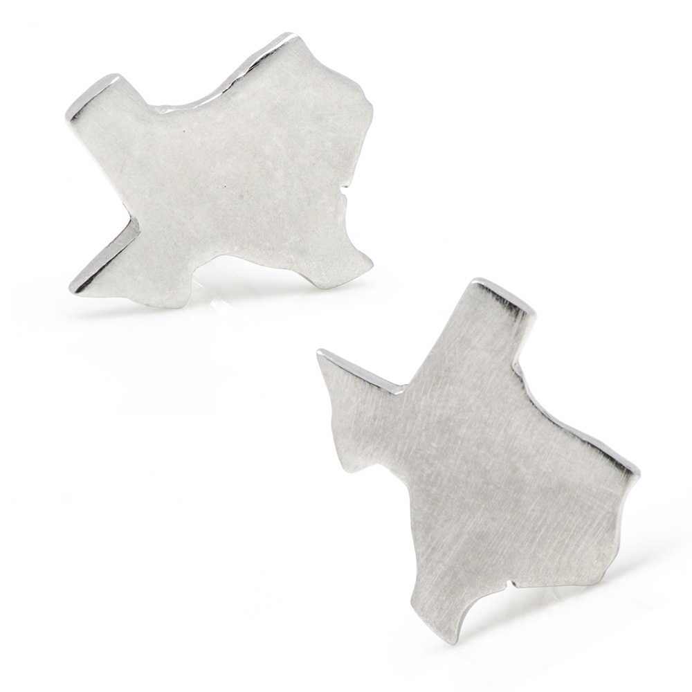 Pewter Texas Cufflinks