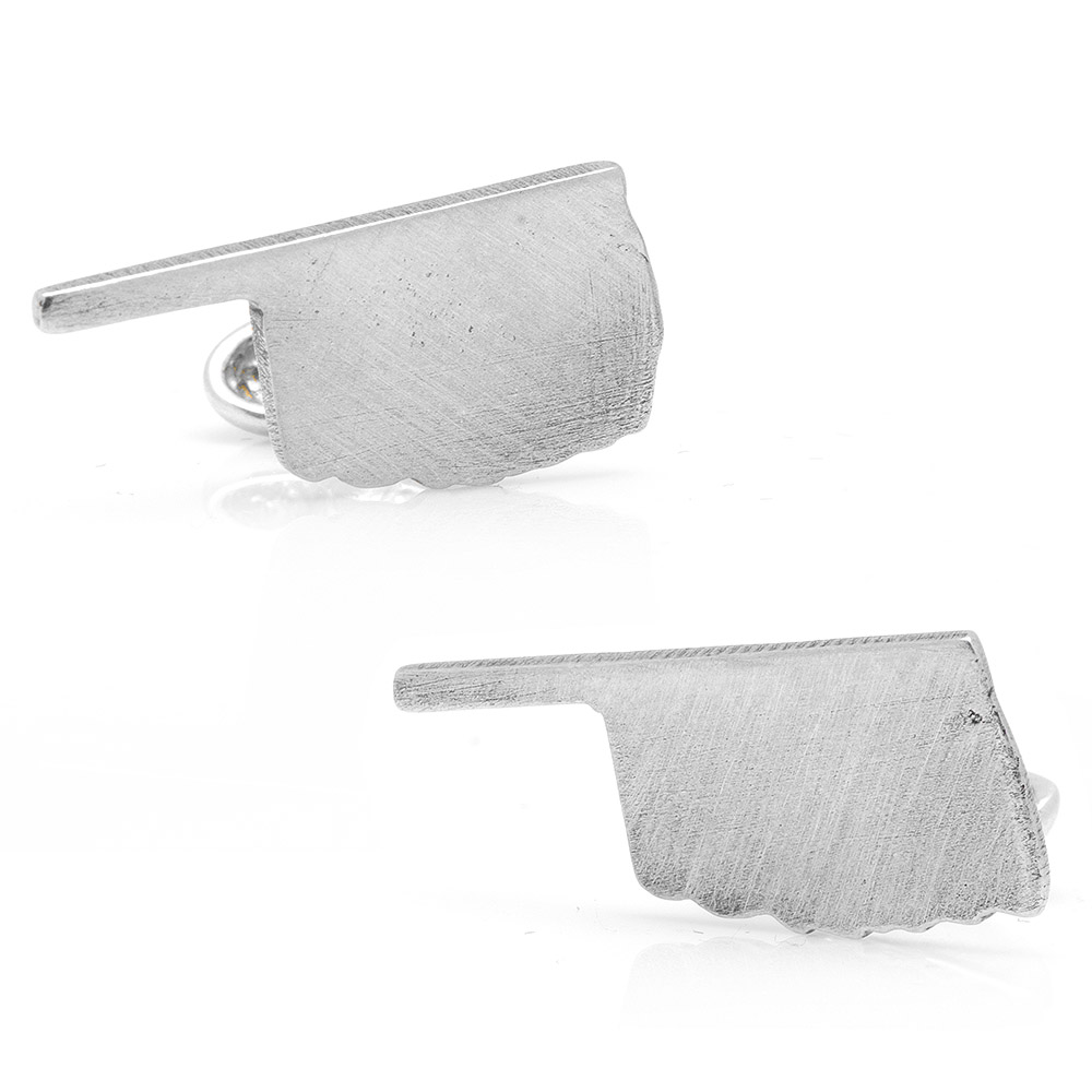 Pewter Oklahoma Cufflinks