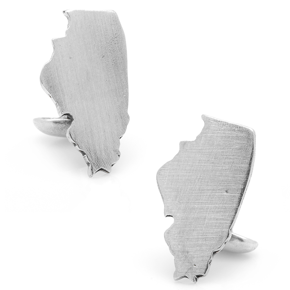 Pewter Illinois Cufflinks