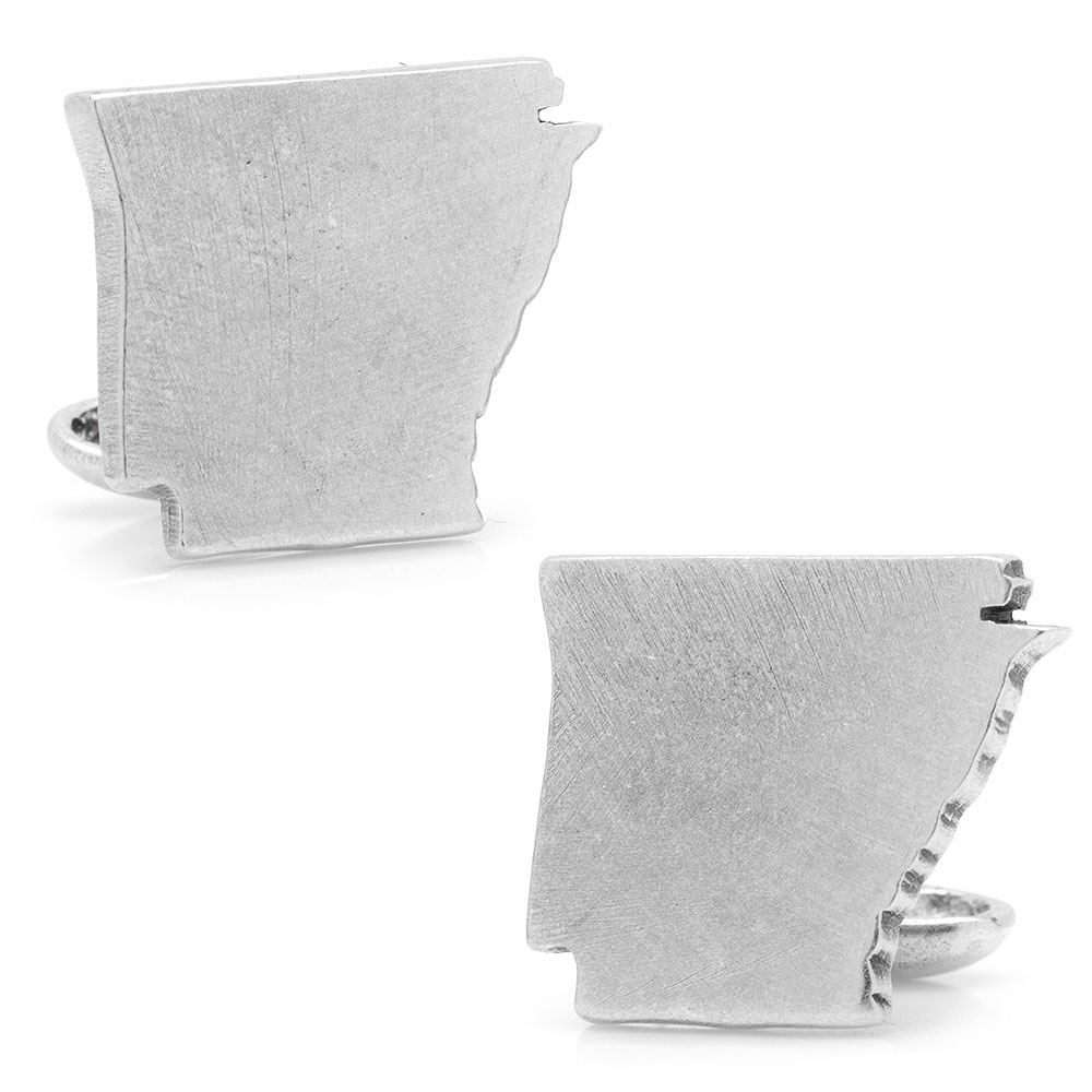 Pewter Arkansas Cufflinks