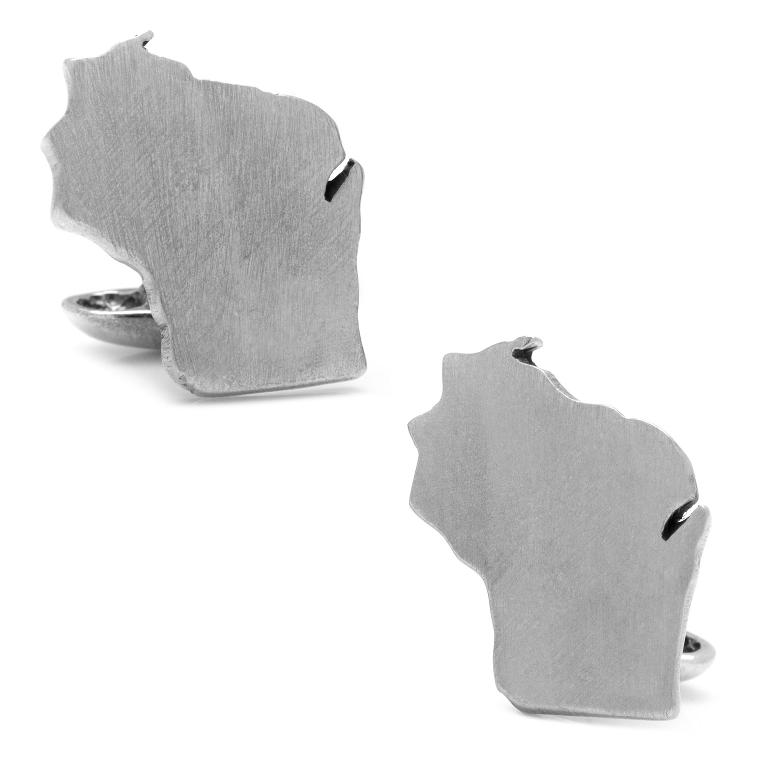 Pewter Wisconsin Cufflinks