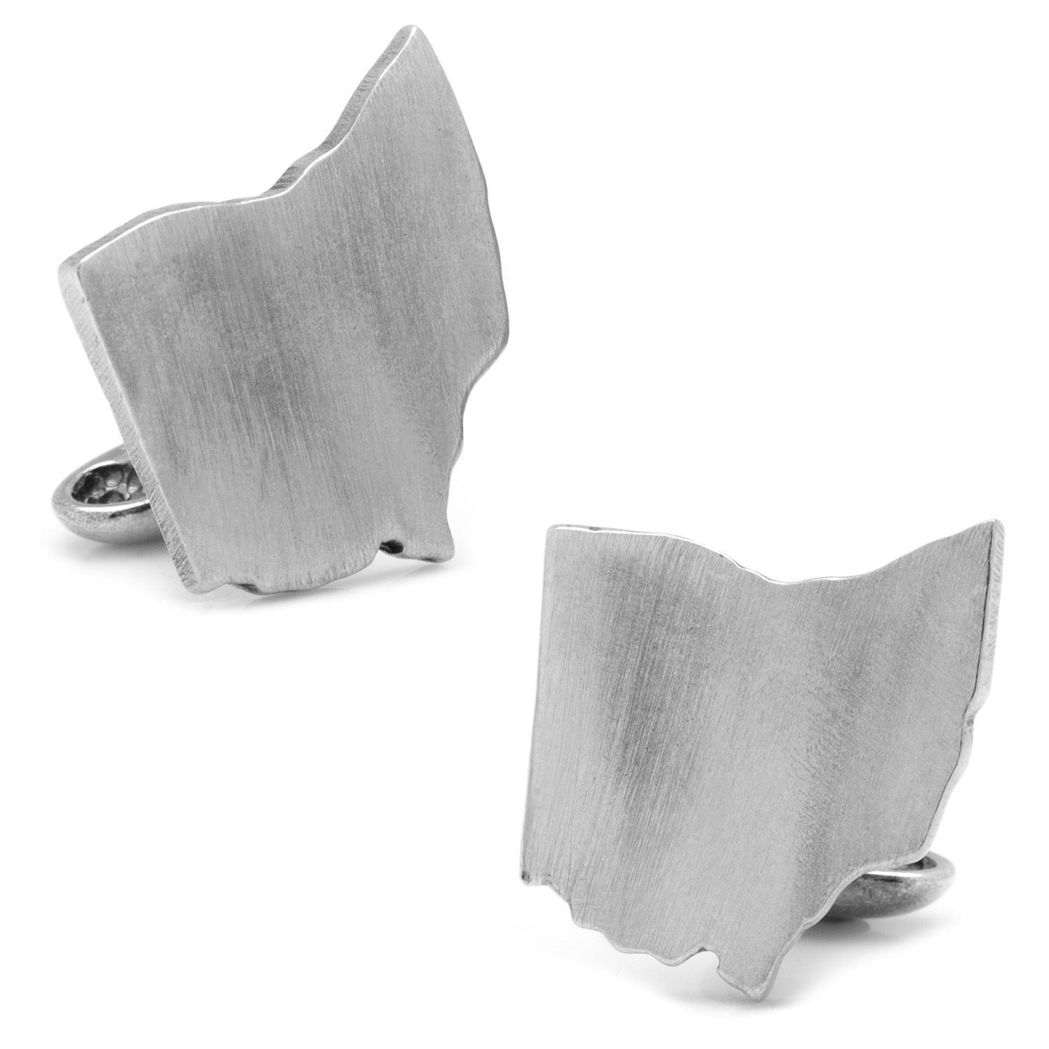 Pewter Ohio Cufflinks