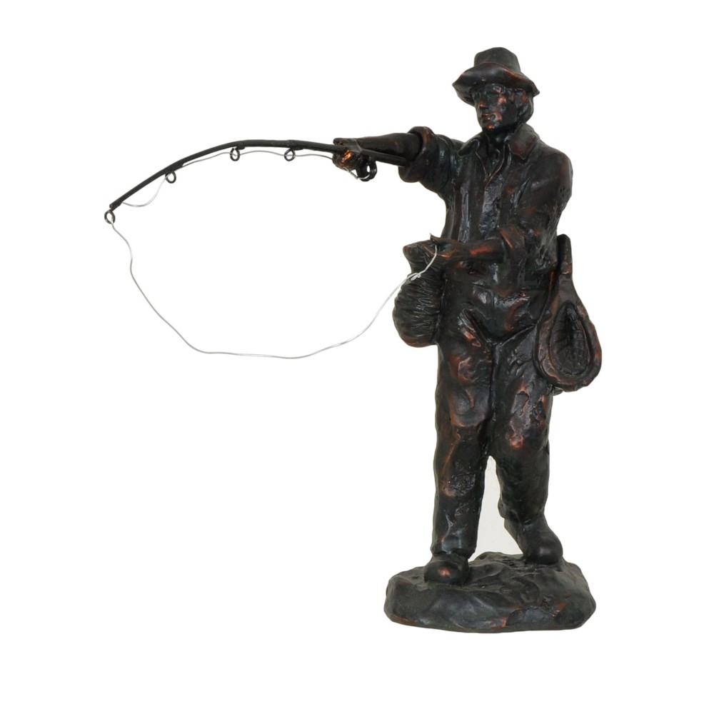 "Fly Fisher ""The Cast"" Sculpture"