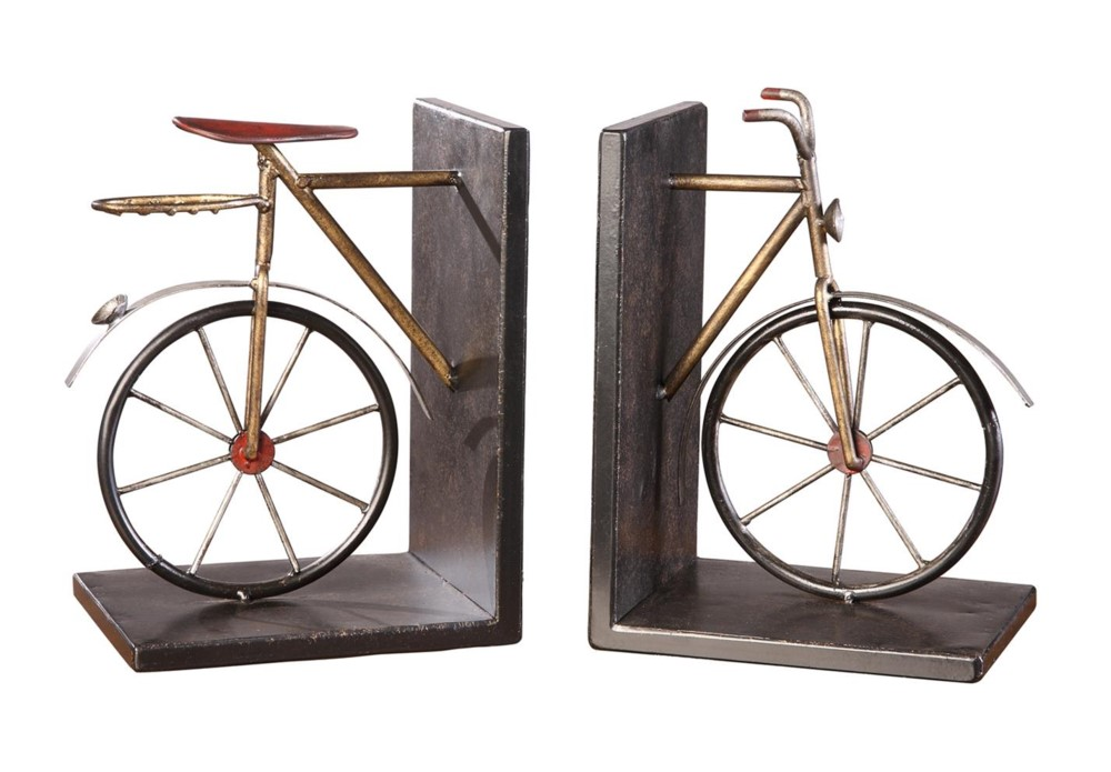 Tandem Bookends metal finish