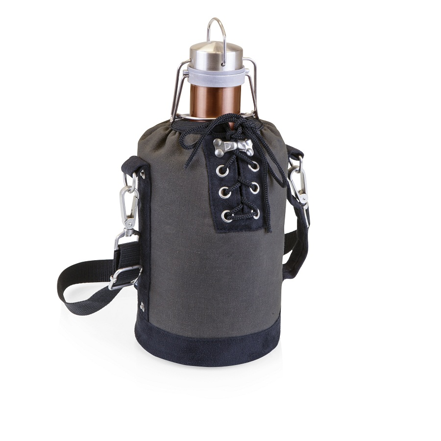 Growler Tote with 64-oz. Stainless Steel Growler – Copper