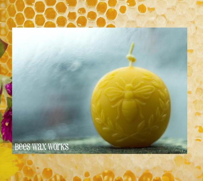 Artisan Beeswax Vintage Bee Orb Candle