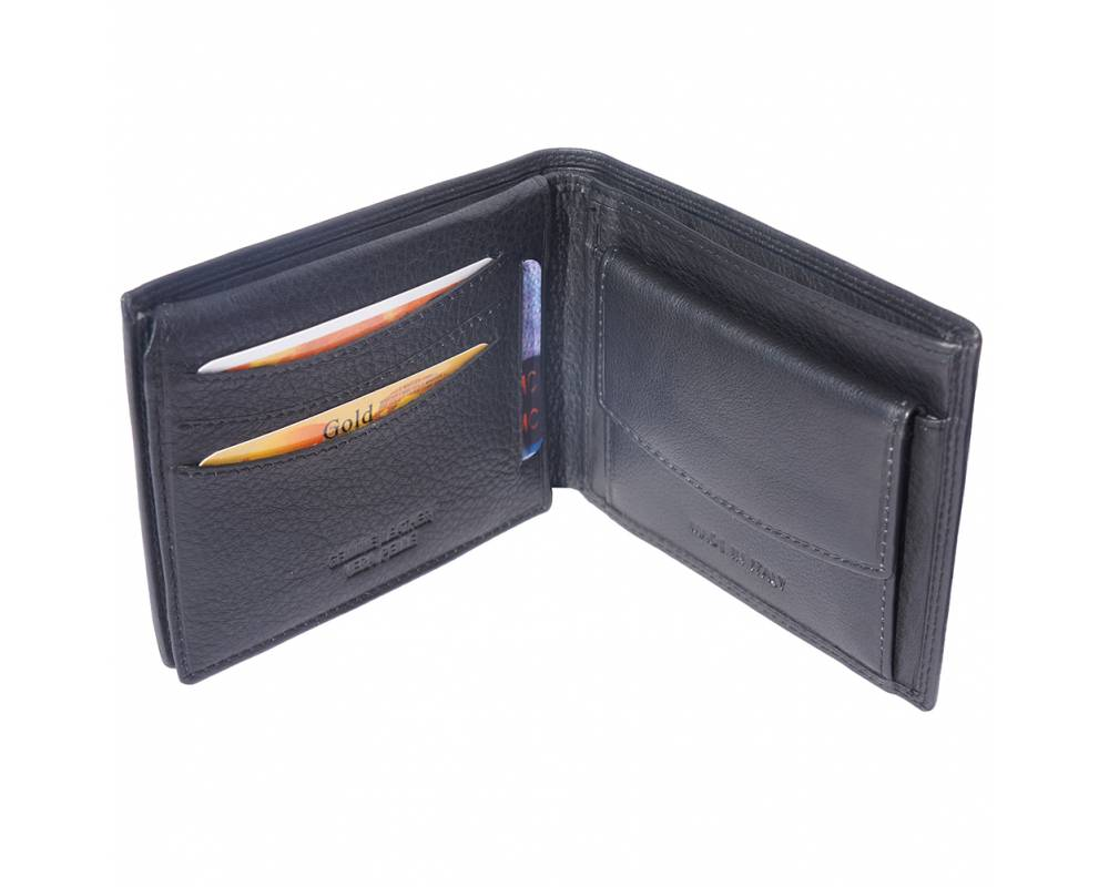 Mens Soft Leather Wallet With Pocket For Coins