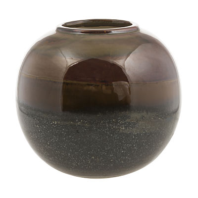 Rumble Vase in Brown and Green