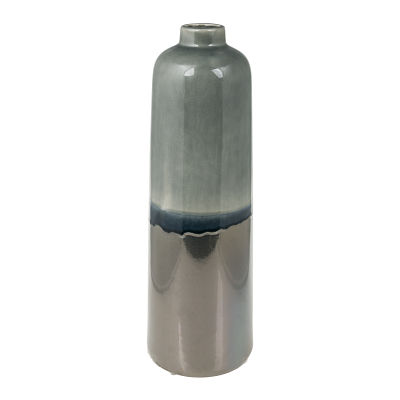 Rumble Vase in Blue and Dark Silver Large