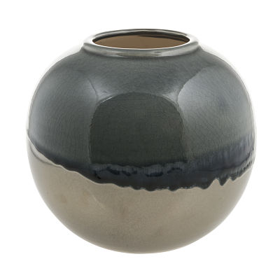 Rumble Vase in Blue and Dark Silver