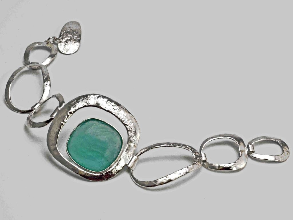 Roman Glass Square Bracelet