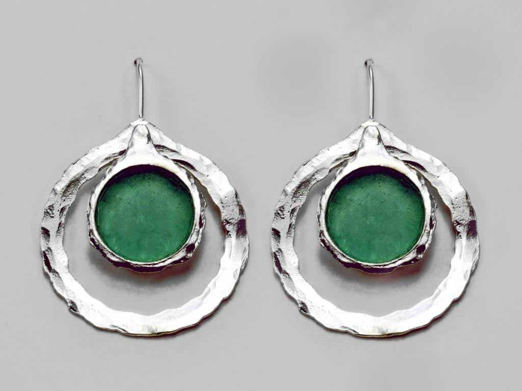 Concentric Circle Roman Glass Earrings