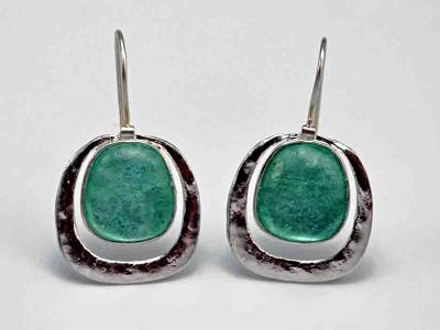 Square Roman Glass Earrings