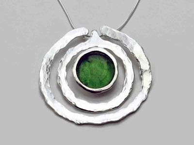 Cocentric Circle Roman Glass Necklace