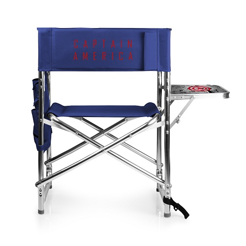 Captain America – Sports Chair by Picnic Time (Navy)