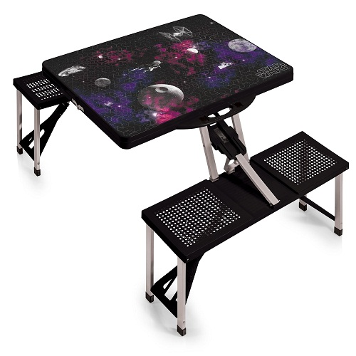 Death Star – 'Picnic Table Sport' Portable Folding Table with Seats (Black)