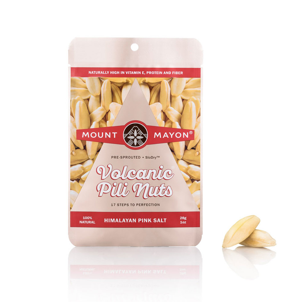 Himalayan Pink Salted Premium Pili Nuts 28g Flat Pouch