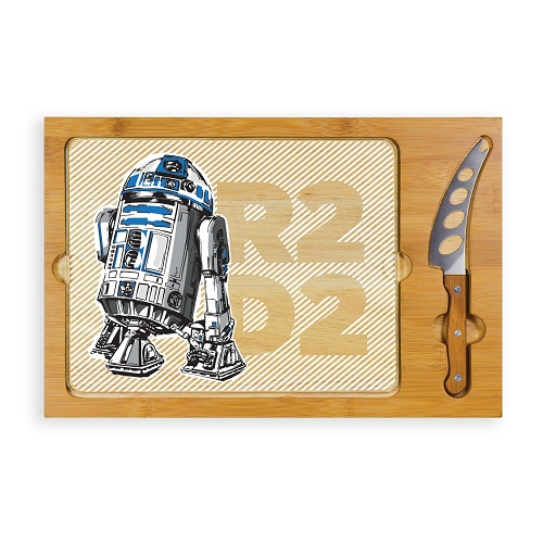 R2-D2 – 'Icon' Glass Top Serving Tray & Knife Set