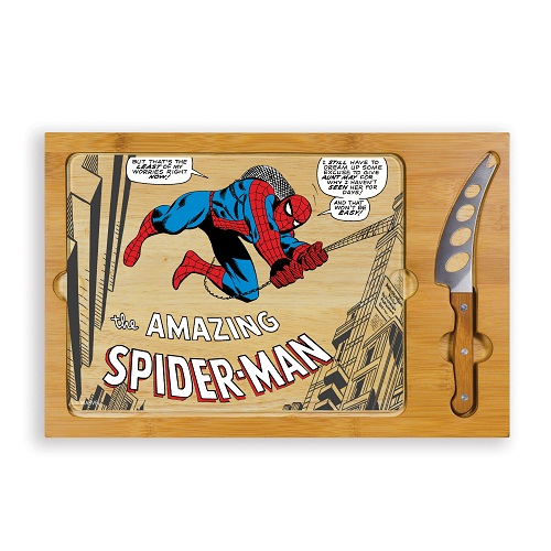 Spider-Man – 'Icon' Glass Top Serving Tray & Knife Set
