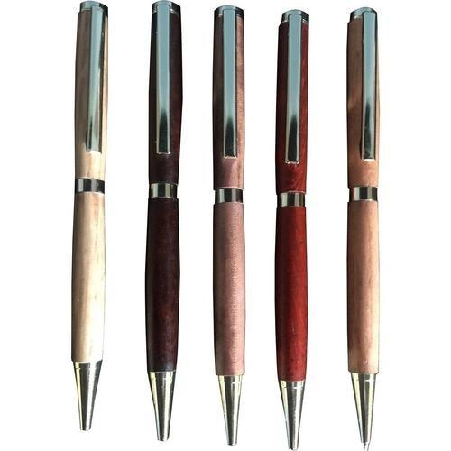 Handcrafted Slimline Dark Walnut Wood Pen