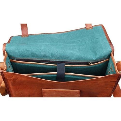 Handcrafted Stylish Leather Messenger Bag
