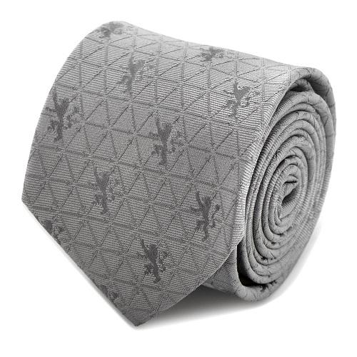 Lannister Geometric Sword Gray Men's Tie