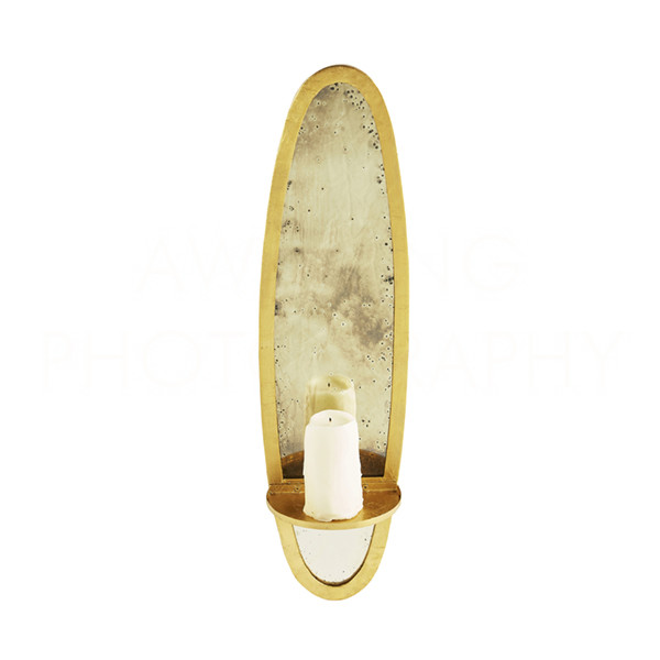 Bronx Small Gold Candle Sconce