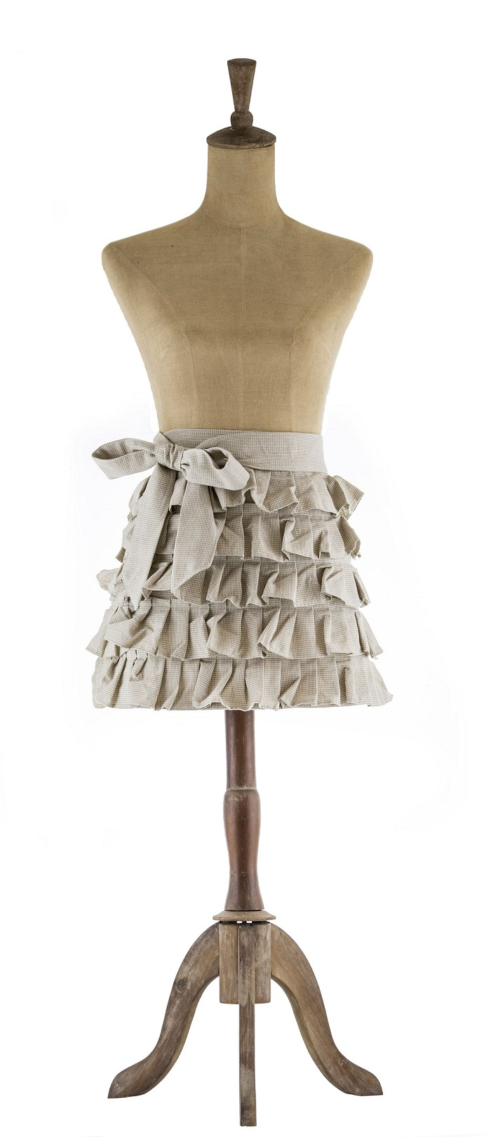 Apron - Chambray Taupe Frill